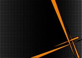 stock photo of spike  - background black orange disco with spikes and boxes - JPG