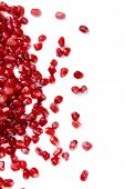 Ripe pomegranate close-up