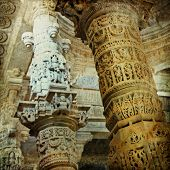 amazing temples of India, vintage styled picture