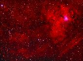 stock photo of perseus  - Emission nebula imaged with a telescope and a scientific CCD camera - JPG