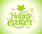 Easter card design template.