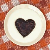 Cocoa Heart-shaped In Semolina Pudding