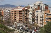 Apartment Buildings In Barcelona. Catalonia. Spain