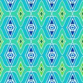 Ethnic pattern with arabic motifs