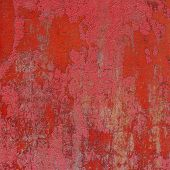 Red Pink 3D Abstract Grunge Paint Layer Wall