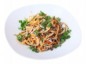 Salad With Oyster Mushrooms