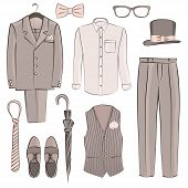 stock photo of boutonniere  - sketch Men - JPG