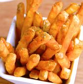 French fries on closeup