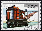 Postage Stamp Nicaragua 1981 Hoist And Derriel, 1909