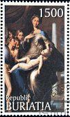 stamp printed in Buryatia shows picture of Parmigianino
