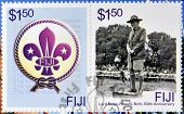 A stamp printed in Fiji dedicated to Lord Baden Powell