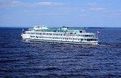 Cruise Liner sailing the Volga River (Russia)