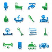 Plumbing tools sticker collection