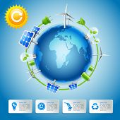 Green energy and power concept