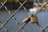 image of leopold  - Love locks on Paris bridge Leopold Sedar Senghor - JPG