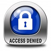 access denied no access in restricted area. Password protected and members secured zone. Privacy sec