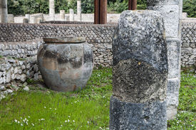 foto of spqr  - The new works on the Roman Forum ruins in Rome. ** Note: Shallow depth of field - JPG