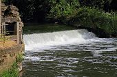 Weir on small river