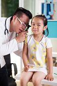 Ear Examination At Pediatrician's Office