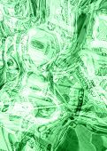 Liquid Money Background 3D