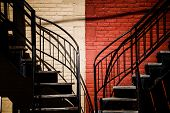 Symmetrical Staircases With Two Different Colors