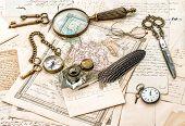 Antique Office Accessories, Old Handwritten Mails