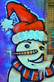 Street art Montreal snowman