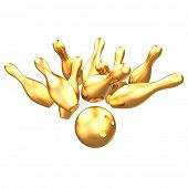 Gilded Bowling 3D