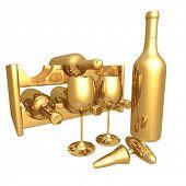 Gilded Wine 02 3D