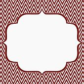 Red And White Chevron Zigzag Frame Background