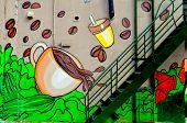 Street art Montreal coffee cup