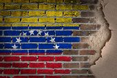Dark Brick Wall With Plaster - Venezuela