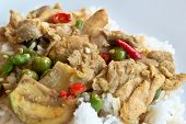 Green Curry With Chicken And Rice
