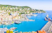 View Of The Port Of Nice, French Riviera