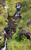 Waterfall in Derbyshire, England UK