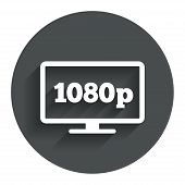 Full hd widescreen tv. 1080p symbol.