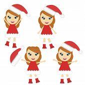 Nice little girl in Santa style dress
