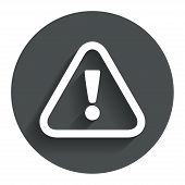 stock photo of hazard symbol  - Attention sign icon - JPG