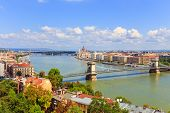Budapest And Danube River Panoramic View, Hungary, Europe