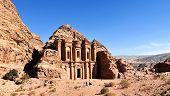 foto of petra jordan  - Ad Deir The Monastery Temple of Petra Jordan - JPG