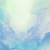Light, blue watercolor background.