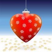 Christmas Ball Heart Snow Stars
