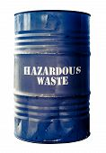 picture of hazardous  - Grungy Isolated Drum Or Barrel Of hazardous Waste - JPG
