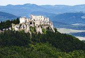 Ruins Of Lietava Castle - Gothic Castle In Slovakia