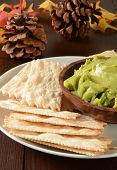 Flatbread Crackers And Guacamole