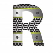 Perforated Metal Letter R