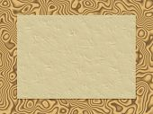 Beige Crumpled Paper On Wood Background