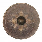 Isolated Thai Native Gong On White Background