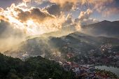 god light before sunset at Sapa Town.