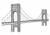 george washington bridge drawing